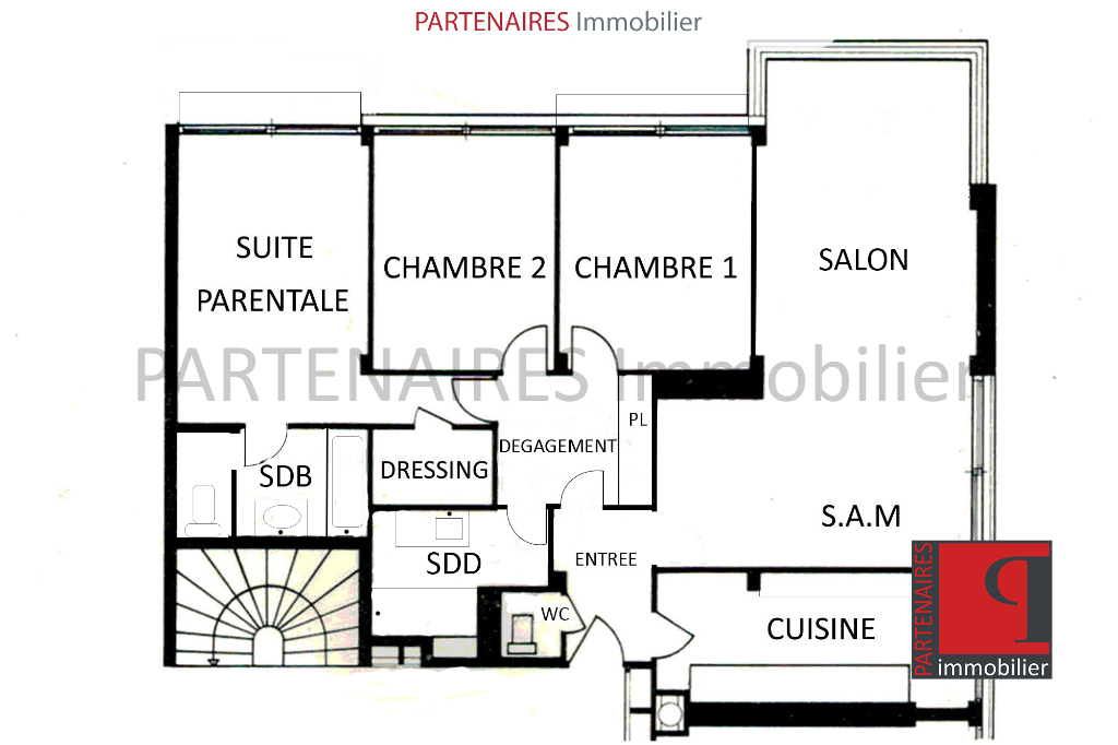 Appartement 3 chambres 8/8