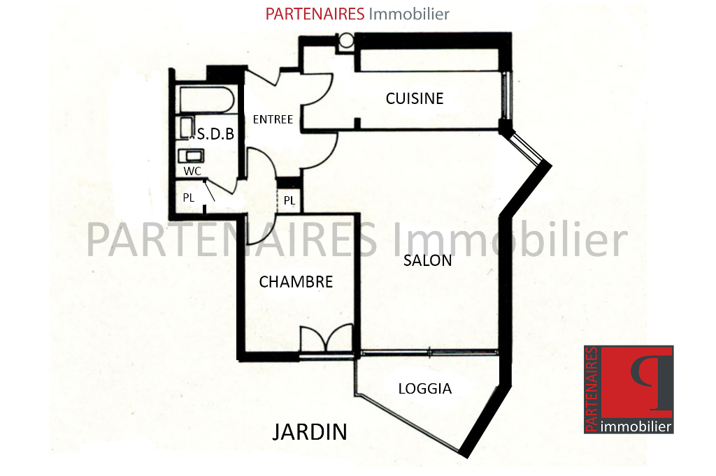 Appartement 1 chambre 53 m2 6/6