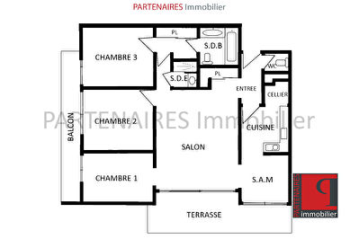 Appartement 3 chambres 96 m2 8/8